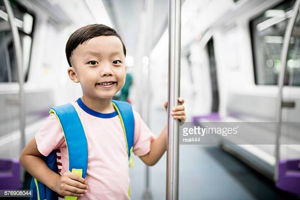 The little boy on the subway