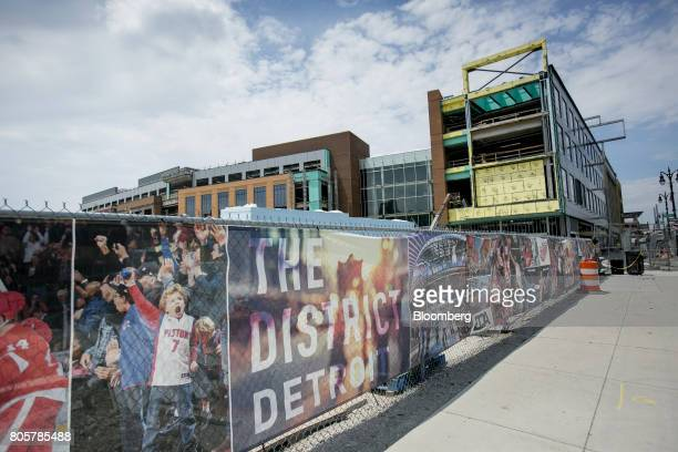 The Little Caesars Arena sits under construction in Detroit Michigan US on Thursday June 22 2017 To lure more young talent straight out of school...