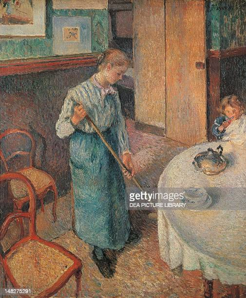 The little country maid by Camille Pissarro oil on canvas 53x63 cm London Tate Gallery