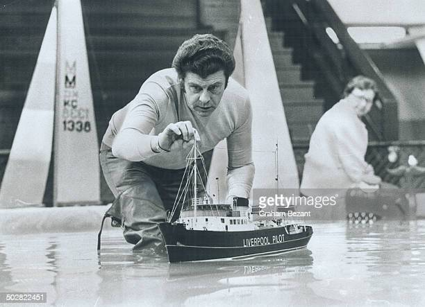The little one Roy Davidson's 44inch Liverpool Pilot results of four years' toil and $1500 is launched as a model entrant at the Boat Show