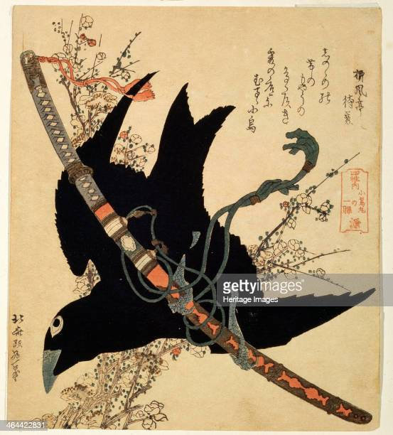 'The little raven Minamoto clan sword' c1823 Hokusai Katsushika Found in the collection of the State A Pushkin Museum of Fine Arts Moscow