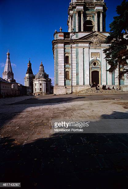The little square near the big bell tower and to its left stand the church of Our Lady of Smolensk the church of SS Zosima and Savvaty Solovetsky and...
