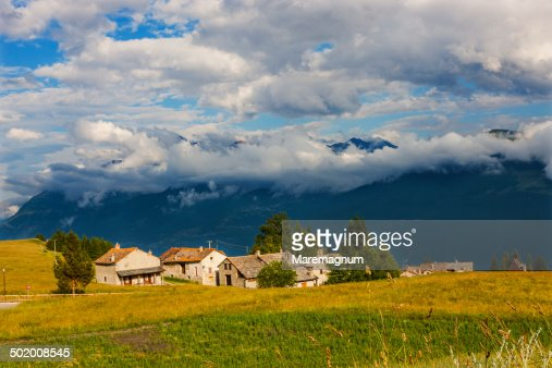The little town of Vetan dessous near Vetan