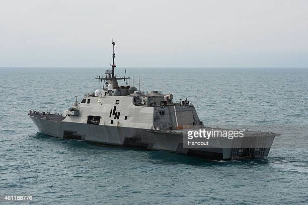 The littoral combat ship USS Fort Worth operates on January 7 2015 in the Java Sea The US Navy is supporting the Indonesianled AirAsia flight QZ8501...