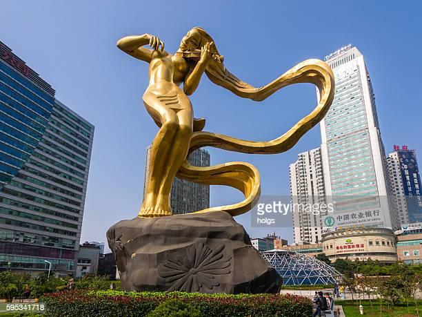 The Liuyang River Statue in Changsha, China