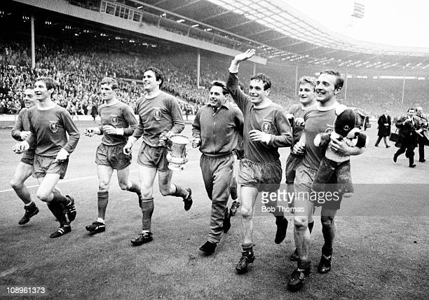 The Liverpool team including left to right Ian St John Geoff Strong Willie Stevenson Ron Yeats Gordon Milne Ian Callaghan Roger Hunt and Peter...