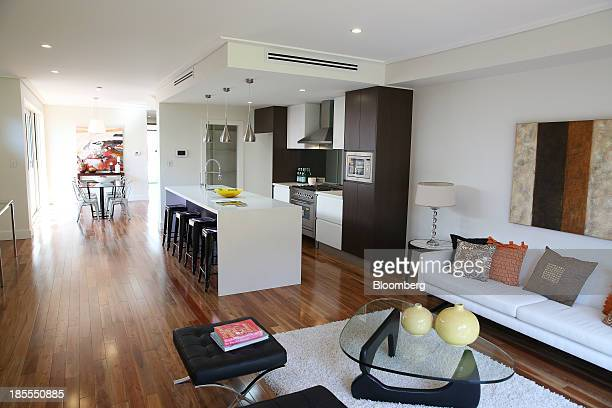 The living and dining areas of a house is seen during an open house inspection at a property in the suburb of Willoughby in Sydney Australia on...