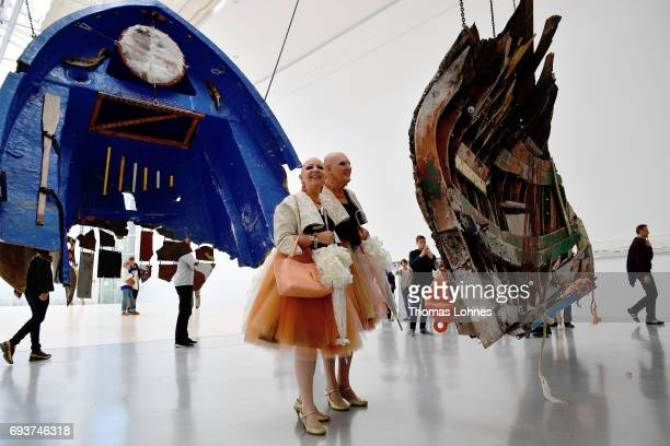The living artwork 'Eva and Adele' visit the 'documenta 14' on June 8 2017 in Kassel Germany The documenta 14 is the fourteenth edition of the art...