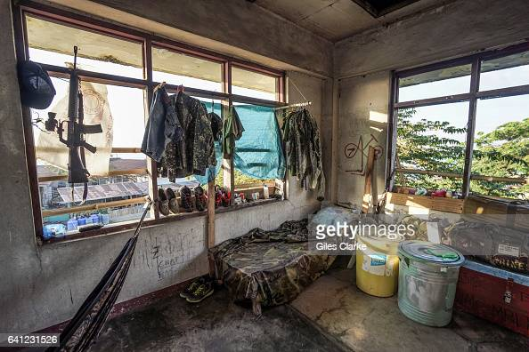 The living quarters of some members of the Philippine Marine Corps in Zamboanga City It was in this neighborhood in September 2013 that government...