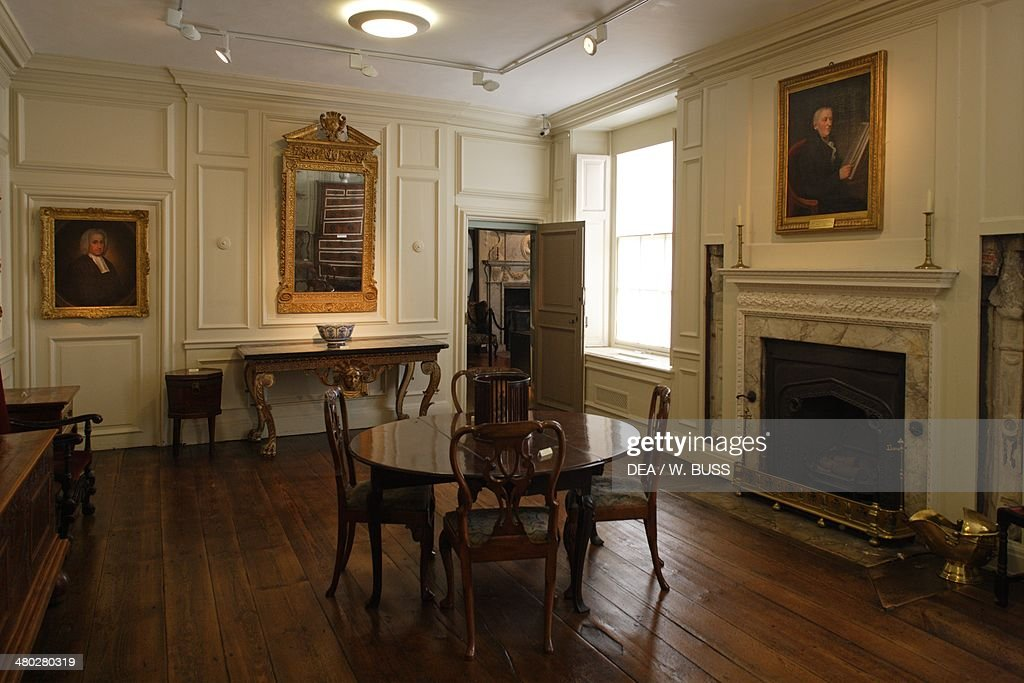 The living room in Christchurch mansion Tudor style Ipswich Suffolk United Kingdom