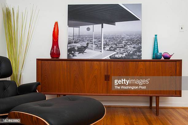 The living room in Michael Shapiro's home is a study in midcentury modern and is photogrpahed Thursday February 21 2013 in Bethesda MD Shapiro a...