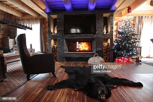 The living room in the house of Carmen and Robert Geiss and their family captured during a photo shooting on December 13 2014 in Valberg France