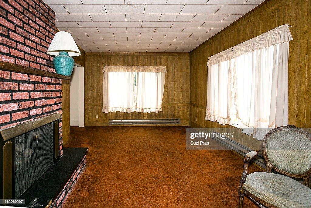 The living room of Kurt Cobain's childhood home on September 27, 2013 in Aberdeen, Washington.
