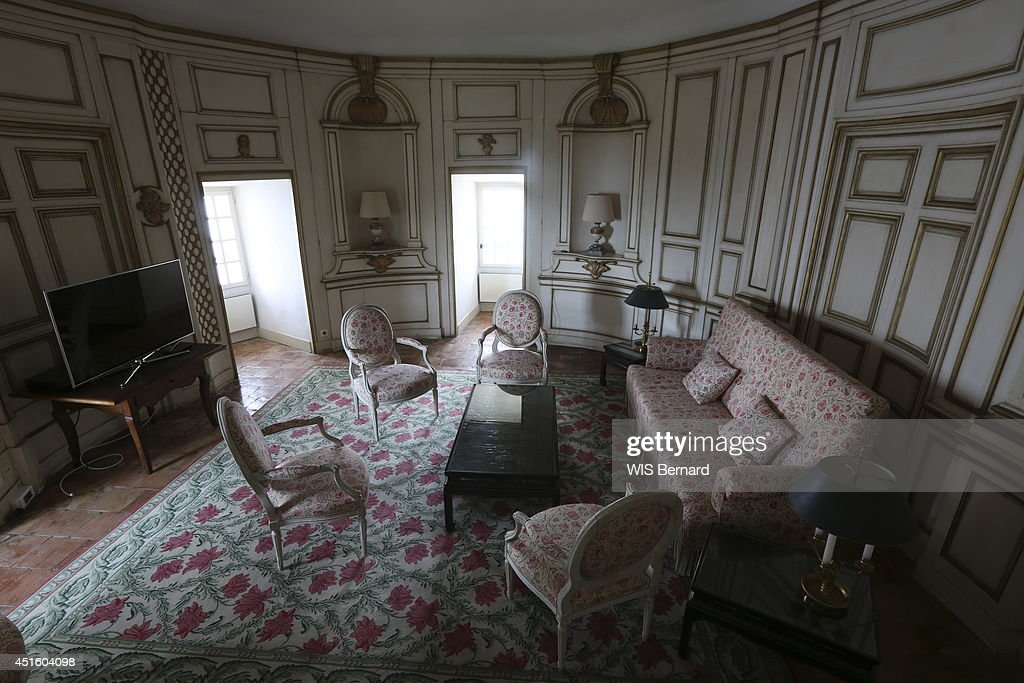 The Living Room Of Fort De Bregancon On June 142014 In Bormes Les Mimosas