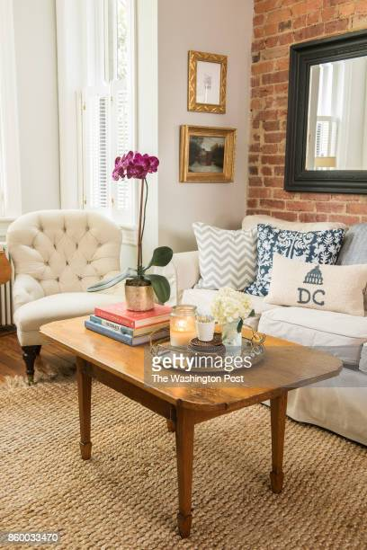 The living room of the Hoburg family's renovated Capitol Hill rowhouse on July 26 2017 A Washington family makes a modest 100yearold three bedroom...