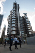 The Lloyds building is pictured in London on September 21 2011 The Lloyd's of London insurance market said Wednesday that it dived into firsthalf...