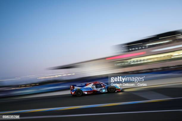 The LMP2 Vaillante Rebellion ORECA 07Gibson with drivers Nicolas Prost /Julien Canal /Bruno Senna in action during the qualification for the Le Mans...