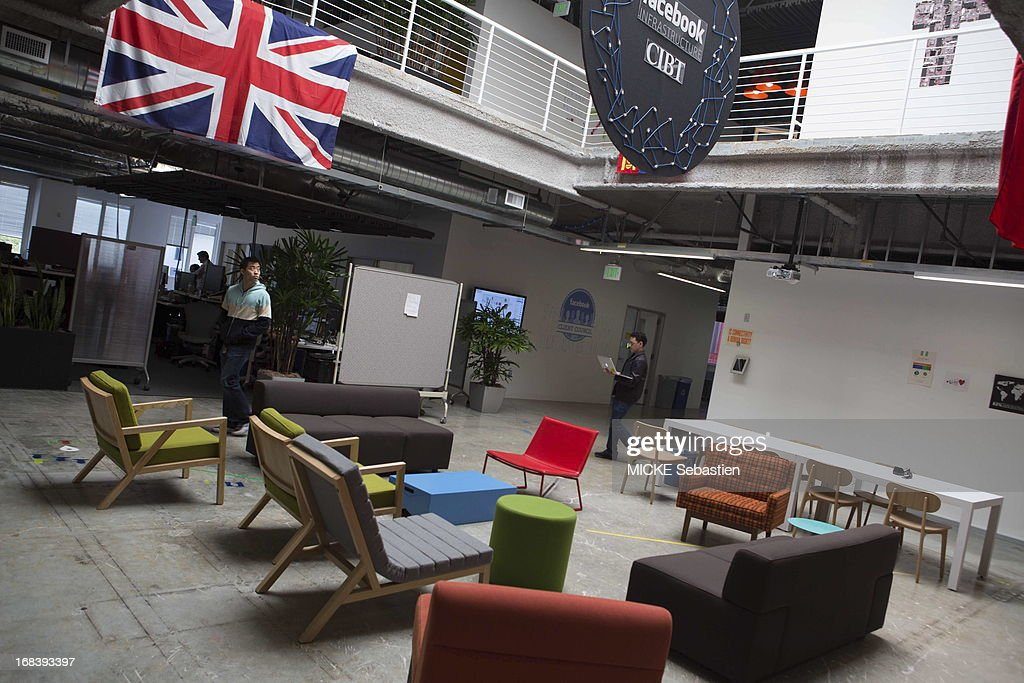 facebook office in usa. the lobby of building at facebook main campus on april 23 2013 in office usa