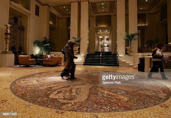 The lobby of the WaldorfAstoria hotel is shown January 17 2005 in New York City Hilton Hotels' which has owned the Waldorf since 1949 announced plans...