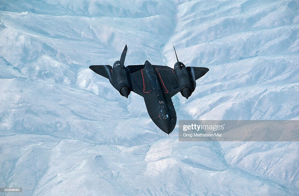 The Lockheed SR71 Strategic reconnaissance aircraft in flight