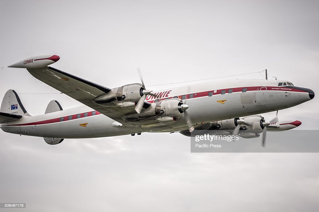 The Lockheed Super Constellation aircraft during the first t air display at the annual 'Wings Over Illawarra' Airshow at the Illawarra Regional Airport.