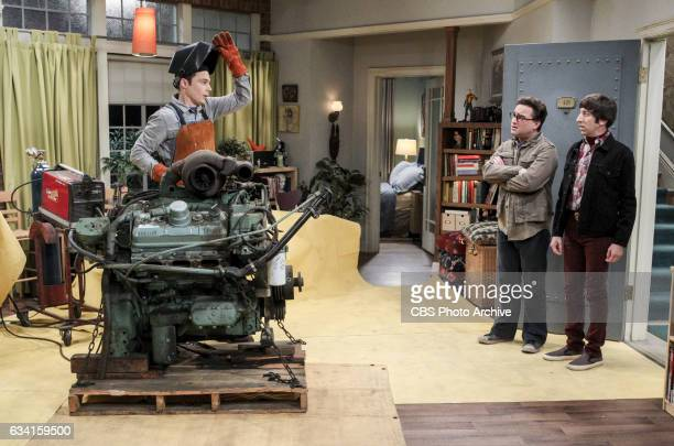 'The Locomotion Reverberation' Pictured Sheldon Cooper Leonard Hofstadter and Howard Wolowitz Leonard and Wolowitz try to distract Sheldon when he...