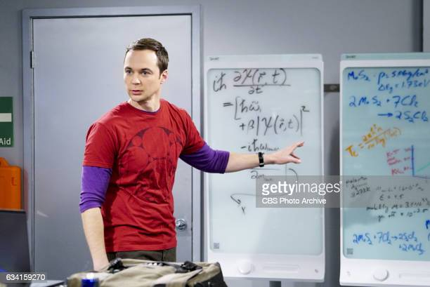 'The Locomotion Reverberation' Pictured Sheldon Cooper Leonard and Wolowitz try to distract Sheldon when he slows the progress of their guidance...