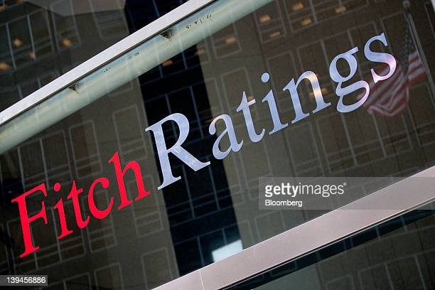 The logo for Fitch Ratings Ltd is displayed on a building in New York US on Tuesday Feb 21 2012 Fitch provides the world's credit markets with...