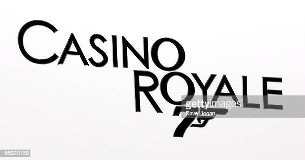 The logo for the film 'Casino Royale' is displayed as actor Daniel Criag is revealed as the new actor to play the legendary British secret agent...