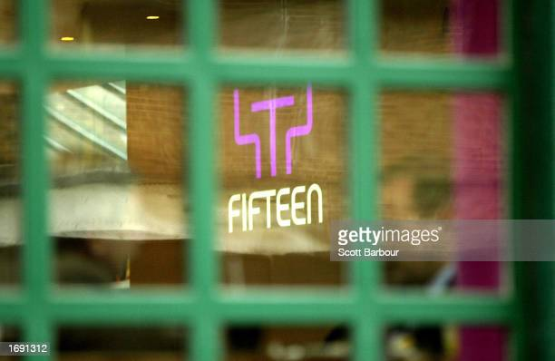 The logo is shown on celebrity chef Jamie Oliver's restaurant 'Fifteen' December 17 2002 in London Oliver who is also the face of supermarket chain...