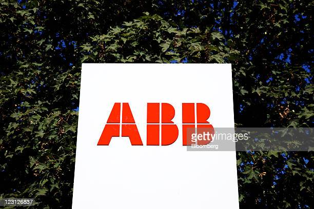 The logo of ABB AG sits on display outside the company's semiconductor plant in Lenzburg Switzerland on Tuesday Aug 30 2011 ABB AG is the world's...
