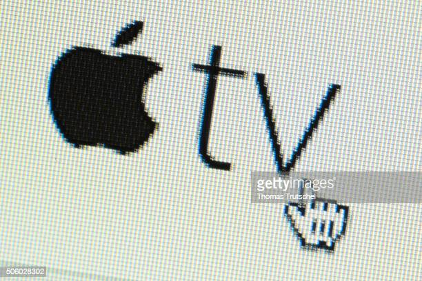 The Logo of AppleTV is displayed on a computer screen on January 21 2016 in Berlin Germany