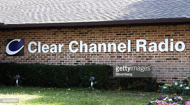 The logo of Clear Channel Radio is posted on the outside of a station in Shreveport Louisiana Monday November 13 2006 Clear Channel Communications...