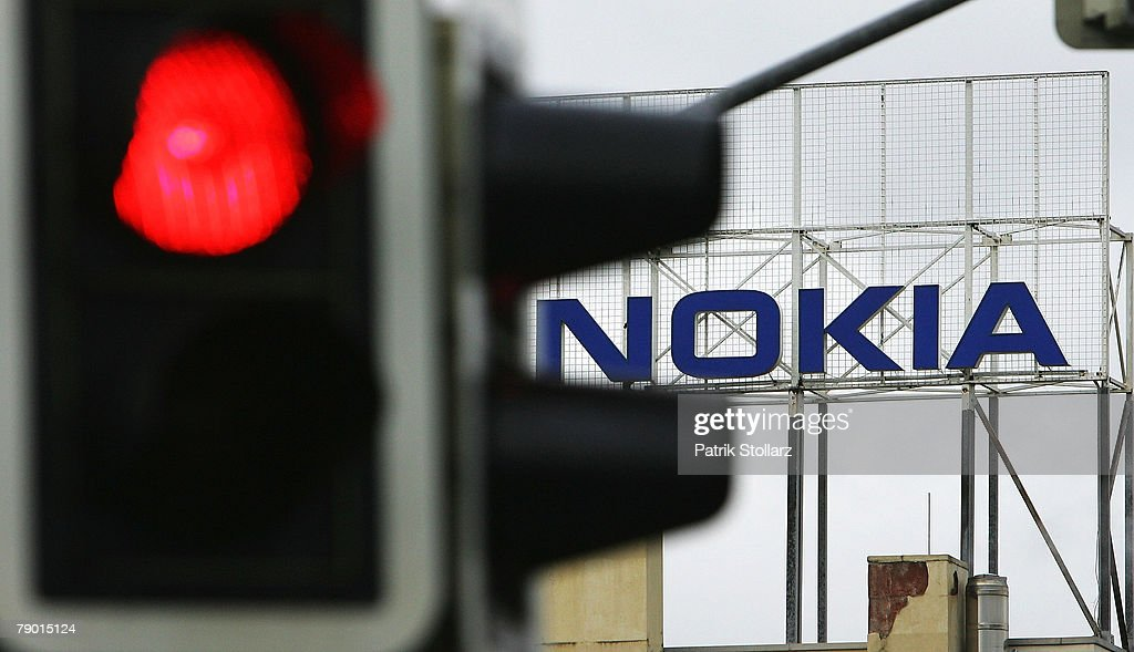 The logo of Finland's mobile phone manufacturer Nokia is seen at the company's plant on January 16, 2008, in Bochum, Germany. A confederation of German unions warned that the decision by Nokia to close its plant in Bochum threatened the region's economic future. Nokia said in a statement that the factory employed 2,300 workers and that production would be transferred to more competitive factories in Europe. Bochum lies in the Ruhr valley, an economically depressed region that has lost its historic mining and steelmaking industries.