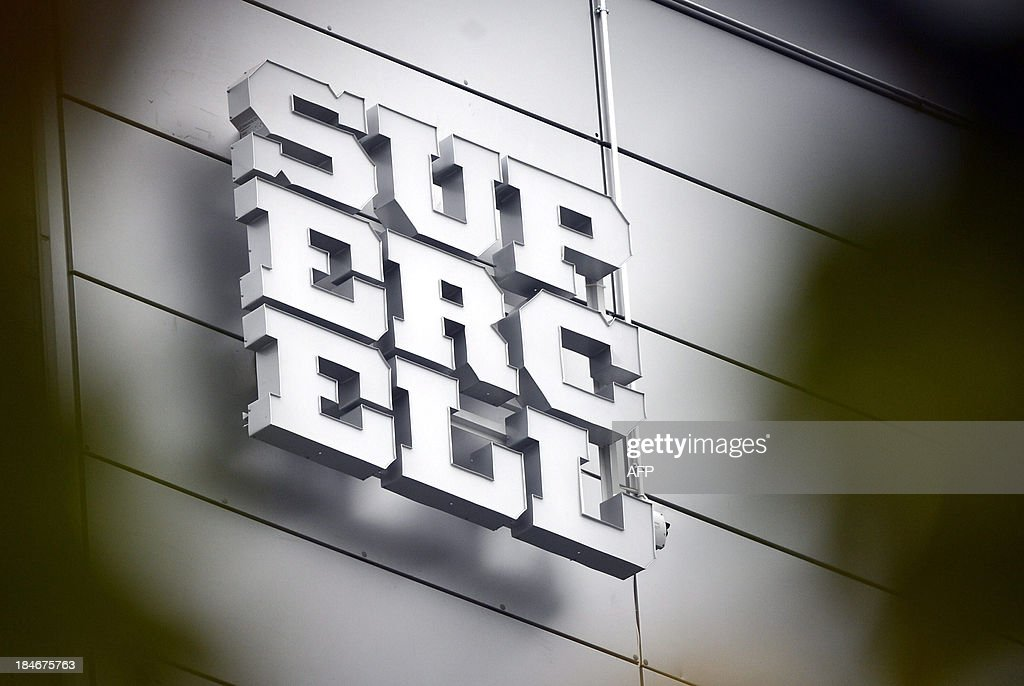 The logo of Finnish computer game maker Supercell is pictured at the companys head office in Helsinki on October 15, 2013. Finnish computer game maker Supercell has sold control of the company for 1.1-billion-euro ($1.5 billion) to two Japanese investors, SoftBank and GungHo, the Helsinki-based company announced on its website on October 15, 2013. AFP PHOTO /Lehtikuva/ KIMMO