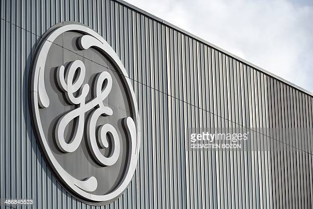 The logo of GE is pictured on a building on December 8 2011 in the Eastern city of Belfort AFP PHOTO / SEBASTIEN BOZON