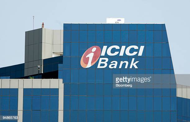 The logo of ICICI Bank Ltd is displayed on the bank's building in Mumbai India on Monday Oct 27 2008 ICICI Bank Ltd the Indian lender with the...
