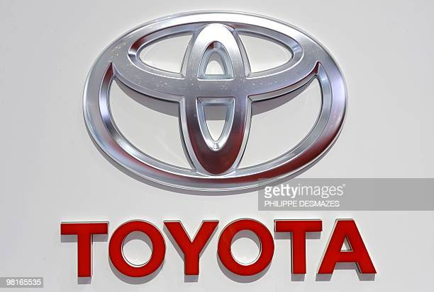 The logo of Japanese carmaker is seen on March 3 2010 during the third press day at the 80th Geneva International Motor Show at Palexpo in Geneva AFP...