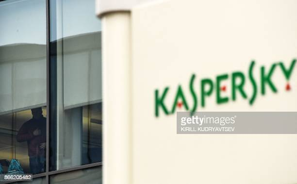 The logo of Kaspersky Lab Russia's leading antivirus software development company is seen at its headquarters in Moscow on October 25 2017 / AFP...
