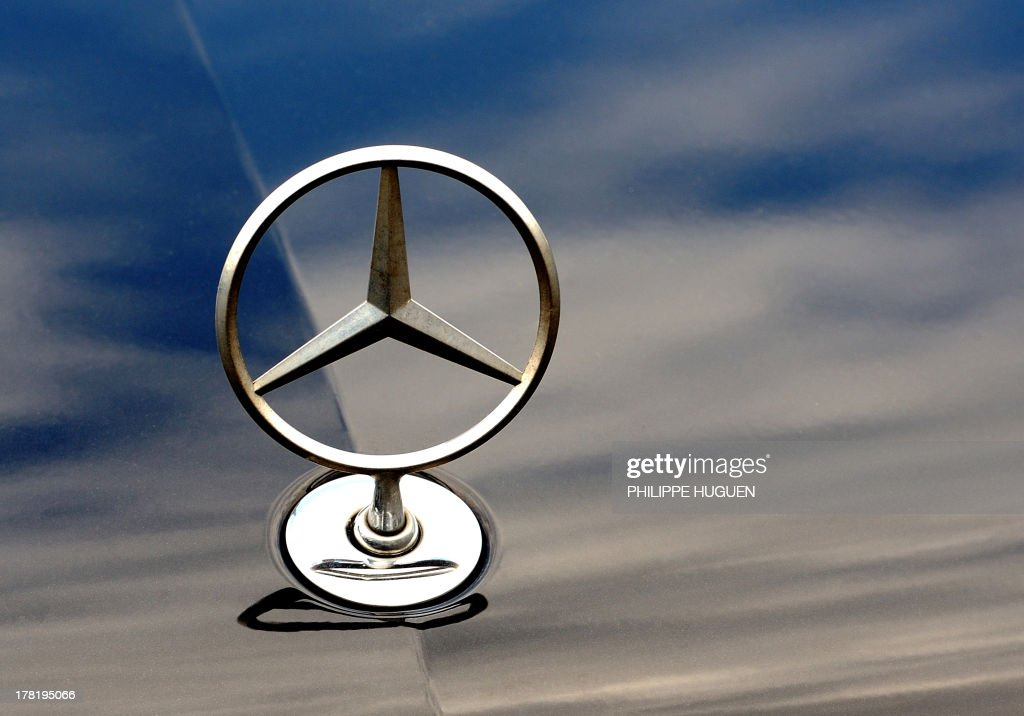 The logo of Mercedes Benz car of German auto giant Daimler is pictured on August 27 2013 in Bailleul The judge of France's Conseil d'Etat ordered...