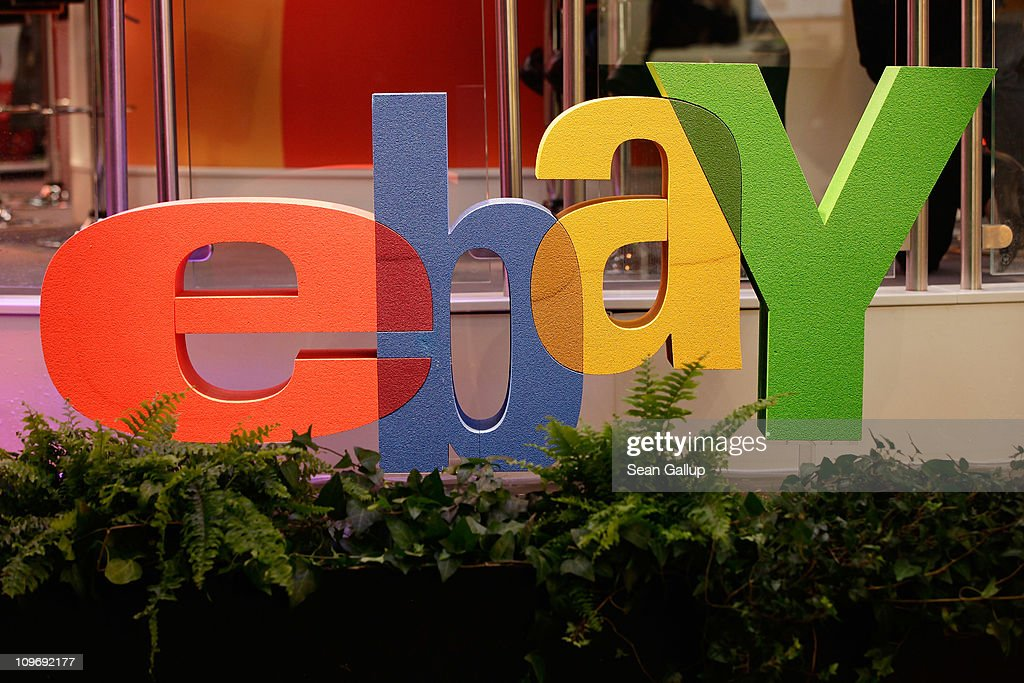 The logo of online retailer eBay stands at the CeBIT technology trade fair on March 1, 2011 in Hanover, Germany. CeBIT 2011 will be open to the public from March 1-5.