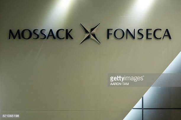 The logo of Panama law firm Mossack Fonseca is seen at the entrance of its Hong Kong office on April 14 2016 The socalled Panama Papers released by...