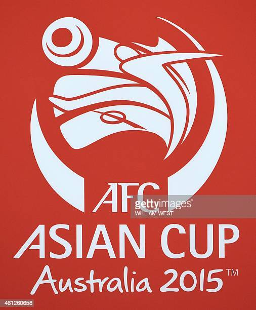 The logo of the AFC Asian Cup is displayed in Melbourne on January 10 2015 AFP PHOTO / William WEST IMAGE RESTRICTED TO EDITORIAL USE STRICTLY NO...