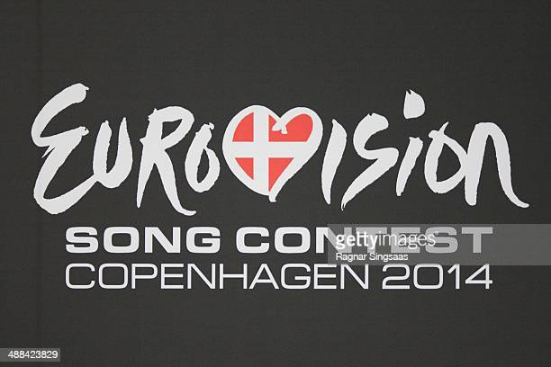 The logo of the Eurovision Song Contest 2014 is seen on May 6 2014 in Copenhagen Denmark