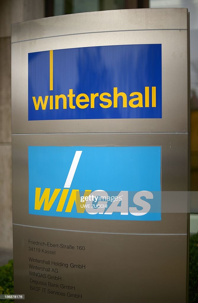 The logo of the German energy company Wingas are pictured at the company's headquarters in Kassel, western Germany, on November 14, 2012. Russian Gazprom group acquired all Wingas shares from former majority holder BASF in an exchange transaction. German chemicals giant BASF and Russian energy firm Gazprom announced on November 14, 2012 they were swapping certain strategic assets as the German firm seeks to bolster its natural gas production. AFP PHOTO / UWE ZUCCHI GERMANY OUT