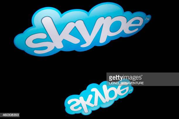 The logo of the Internet telephone system Skype is displayed on a tablet on January 2 2014 in Paris AFP PHOTO / LIONEL BONAVENTURE