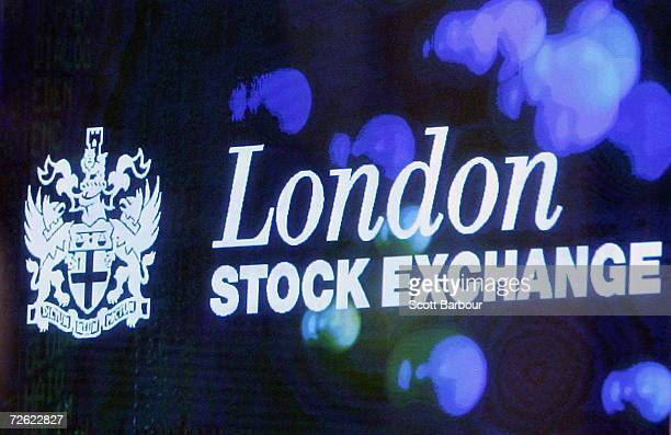 The logo of the London Stock Exchange is displayed in the foyer of the London Stock Exchange on November 22 2006 in London England The London Stock...