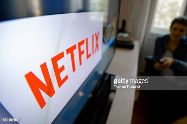 The logo of the media company Netflix can be seen on a TV on April 18 2017 in Berlin Germany Netflix is one of the world's largest streaming services