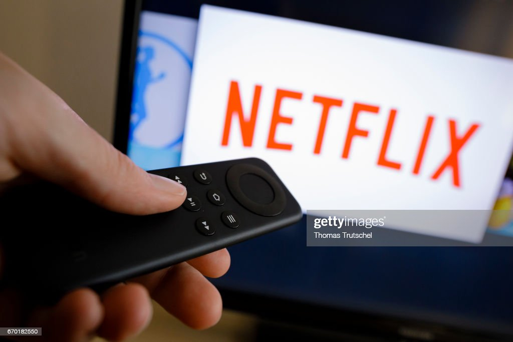 The logo of the media company Netflix can be seen on a TV on April 18, 2017 in Berlin, Germany. Netflix is one of the world's largest streaming services.