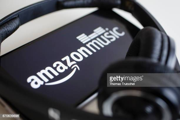 The logo of the music streaming service Amazon Music is displayed on a smartphone on April 20 2017 in Berlin Germany